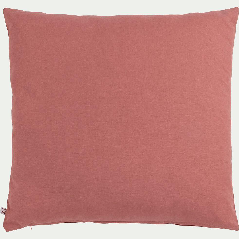 Coussin de sol en coton - rouge ricin 70x70cm-CALANQUES