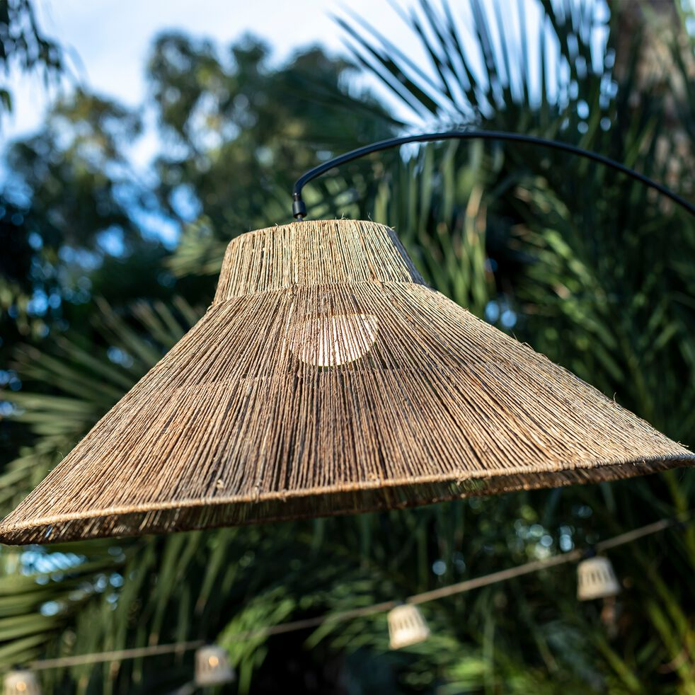 Lampadaire d'extérieur sans fil - naturel H230cm-NIZA