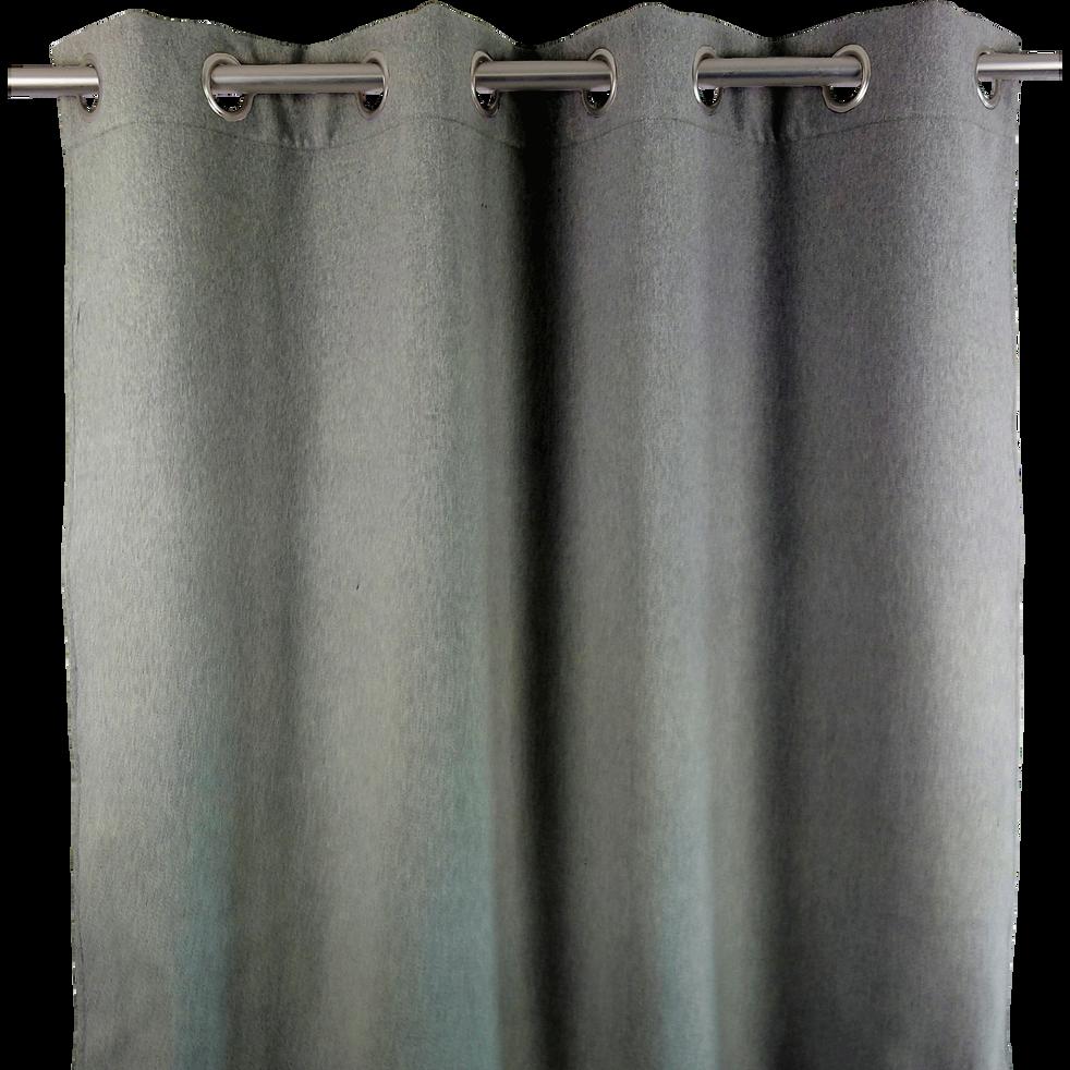 Rideau à œillets occultant gris 140x260cm-OTAWA