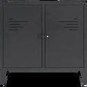 Commode 2 portes en acier Noir-LOFTER