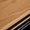 Console en acier et placage chêne-CESARINE