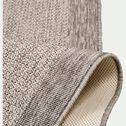 Tapis tissé plat intérieur et extérieur - gris 120x170cm-Bastian