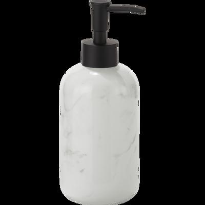 Distributeur de savon effet marbre blanc-MOUNE