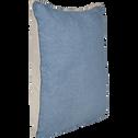 Coussin en coton beige et bleu 45x45cm-NIOLON