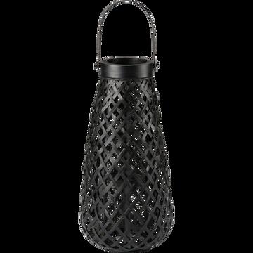 Lanterne en bambou noir H56cm-Lescot