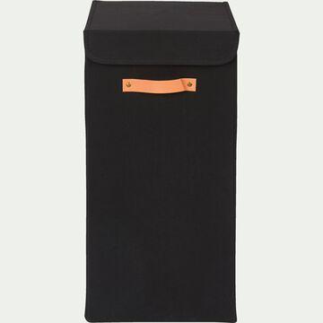 Panier à linge en polycoton - noir H60xL30cm-ERRO