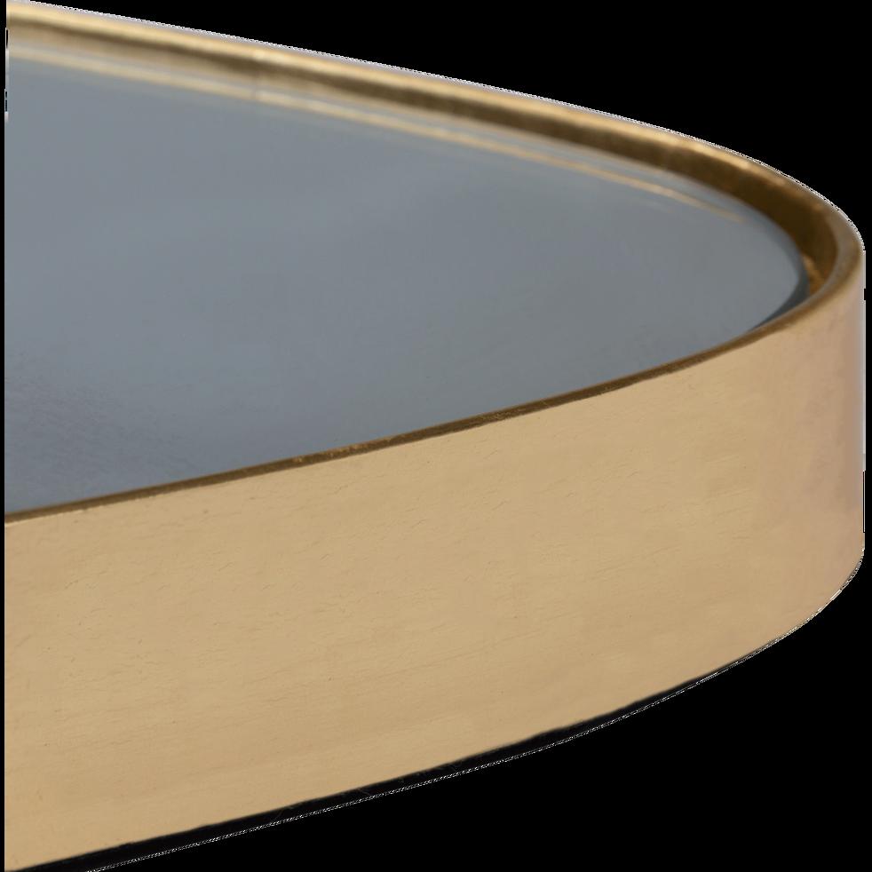 Miroir triangulaire doré 54x35cm-TRELUS