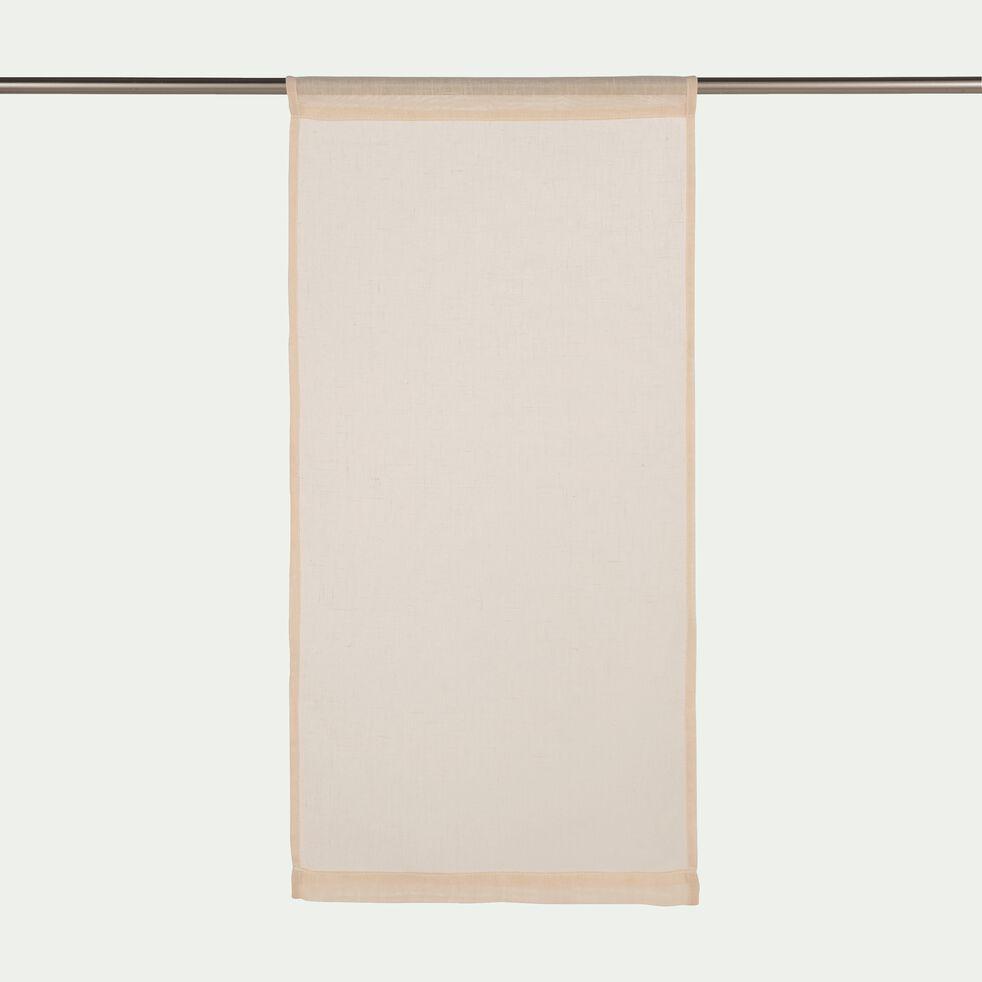 Vitrage à passant en polyester - beige roucas 45x90cm-DUNE