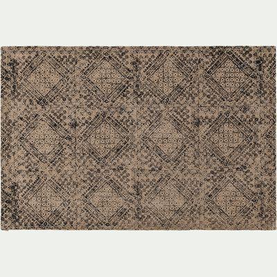 Set de table en toile de jute noir 30x45cm-XIN