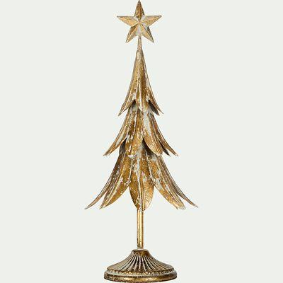 Sapin de Noël en fer doré à poser H47cm-MITRE