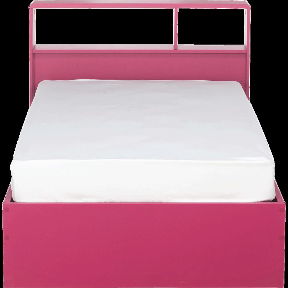 lit 1 place rose réversible blanc - 90x200 cm - cooler - 90x200 cm