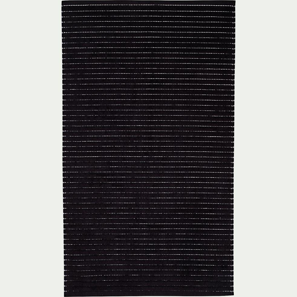 Tapis de bain en coton - noir 50x80cm-Rhodes