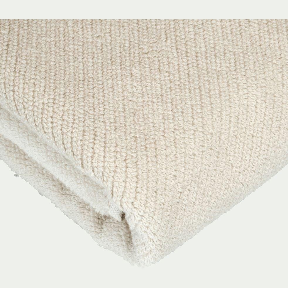 Drap de bain bouclette en coton bio - beige roucas 90x150cm-COLINE