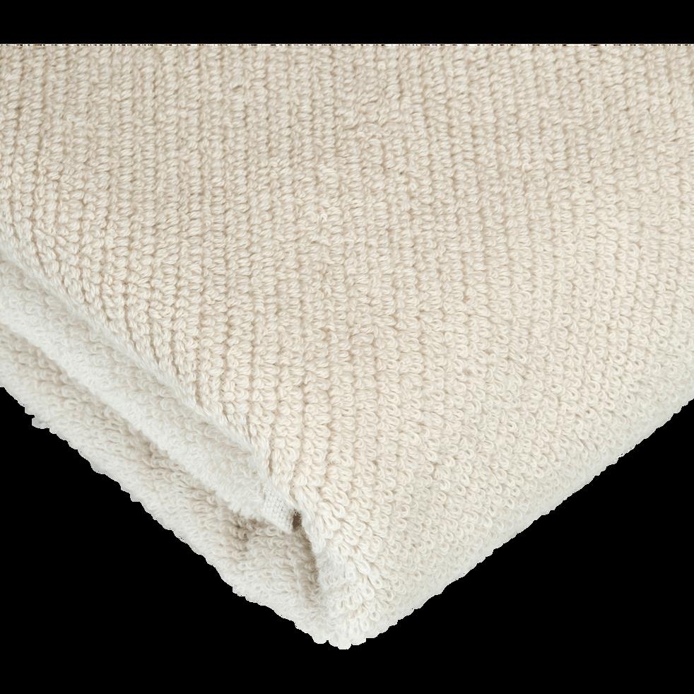 Drap de bain beige roucas 90x150cm-COLINE