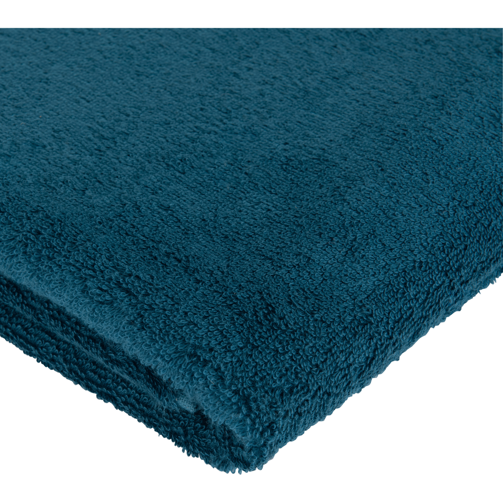 Drap de douche en coton 70x140cm bleu figuerolles-AZUR