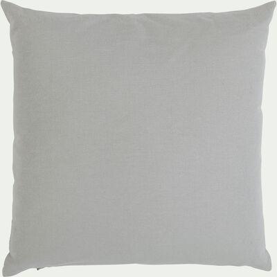 Coussin en coton gris borie 40x40cm-CALANQUES