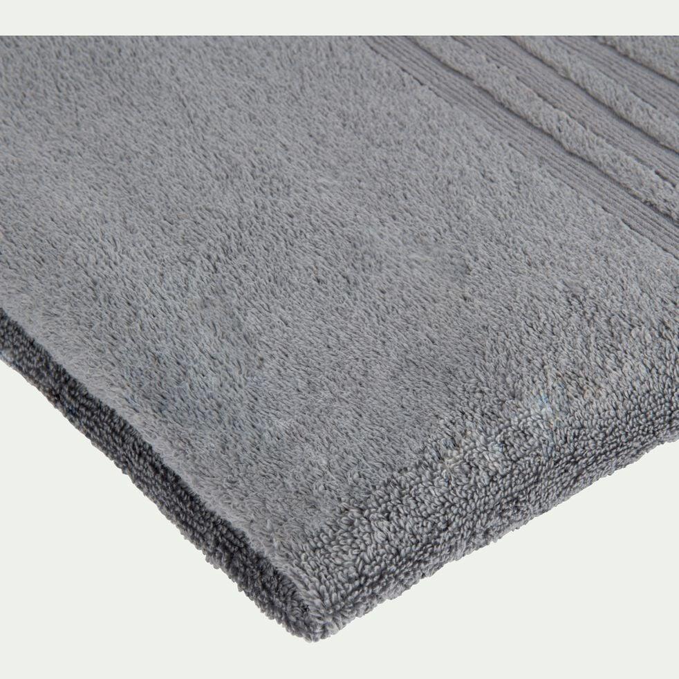Serviette de bain bouclette en coton - gris anthracite 50x100cm-NOUN