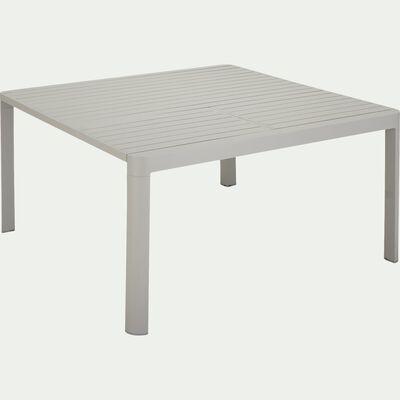 Table de jardin extensible en aluminium - gris (4 à 8 convives)-TISOT