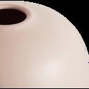 Vase en céramique rose D20xH20cm-BALA