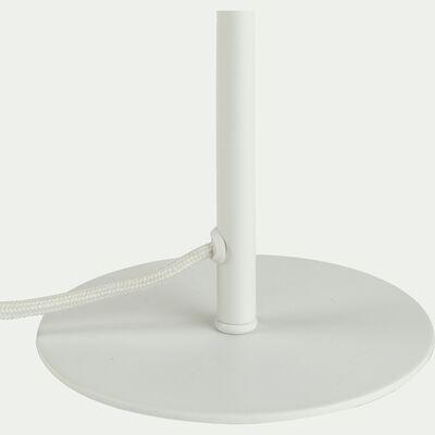 Pied de lampe en métal blanc H30,5xD13cm-OLIVIA