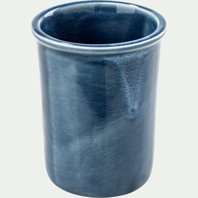Porte brosse à dent en céramique - bleu figuerolles-DANA