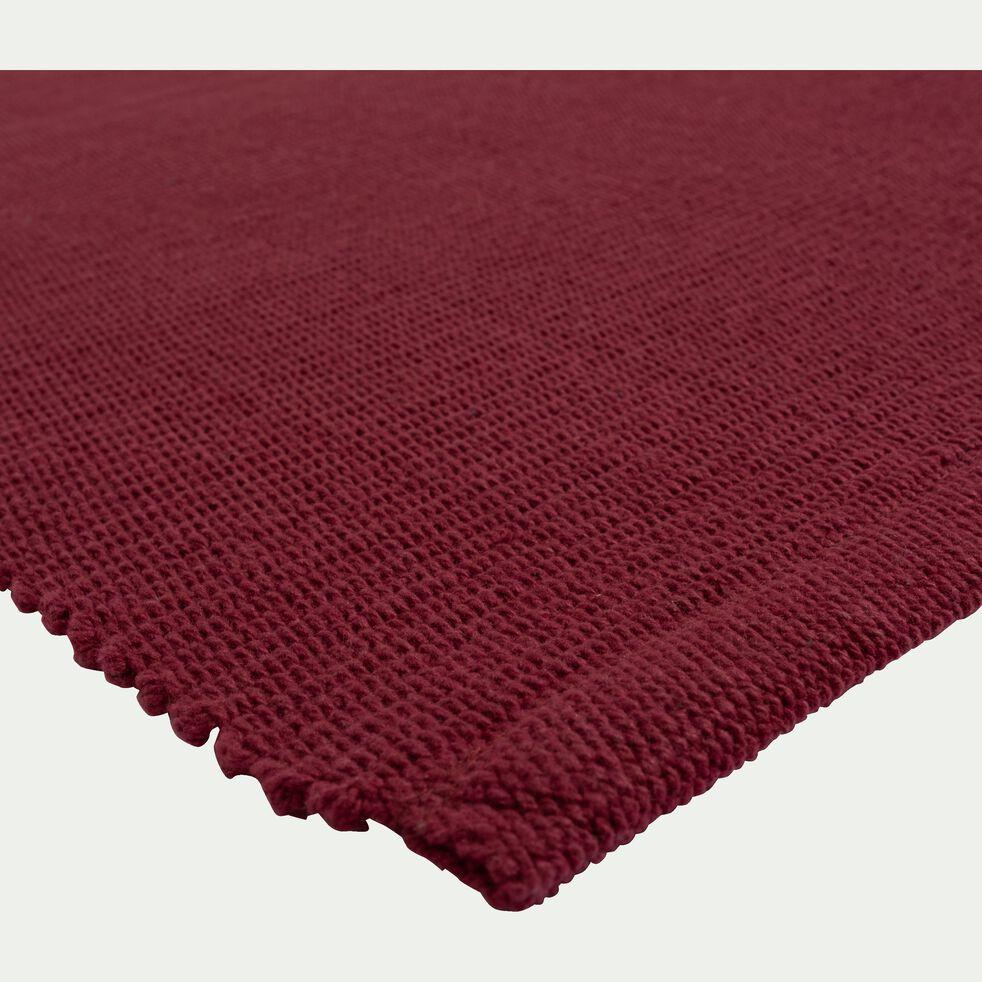 Descente de lit en coton - rouge sumac 60x120cm-CAMELIA