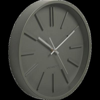 Horloge murale vert cèdre D35,5cm-LITTORAL