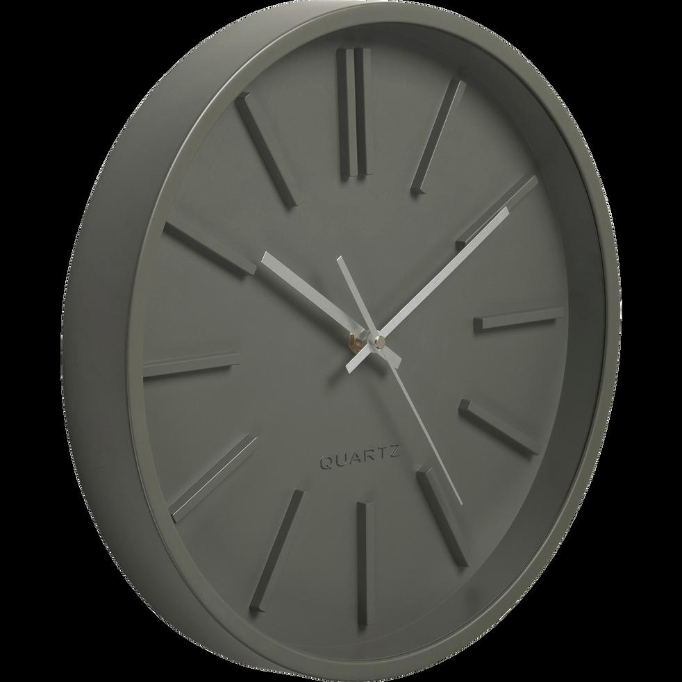 horloge murale vert c dre d35 5cm littoral d co alinea. Black Bedroom Furniture Sets. Home Design Ideas