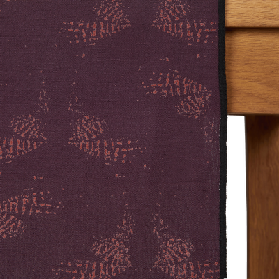 Chemin de table en lin et coton violet 50x150cm-ATOSIA