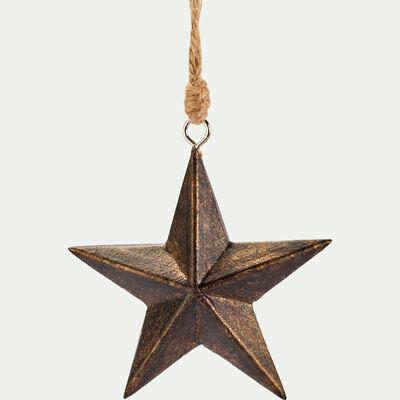 Suspension étoile  3x7,5x7,5cm en bois - marron-ANTONELLA