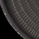 Plateau en métal Brun calabrun D53 cm-STRIGLIA
