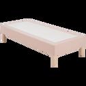 Housse pour sommier Topaze Sable rosé - 90x200 cm-TOPAZE