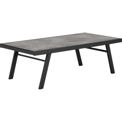 Table d'appoint de jardin en aluminium et céramique-VERCEIA