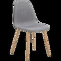 Chaise en tissu gris-CHARLIE