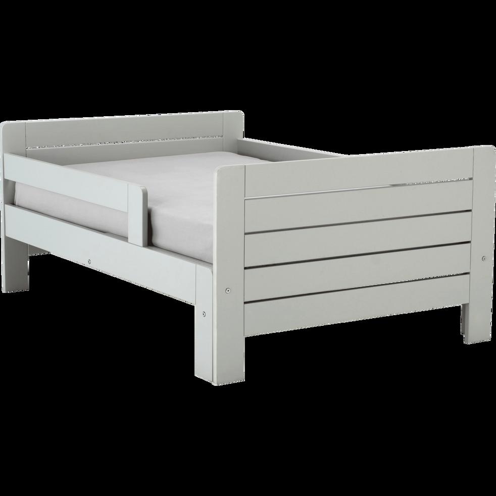 lit 1 place volutif vert olivier en pin 3 positions pour. Black Bedroom Furniture Sets. Home Design Ideas