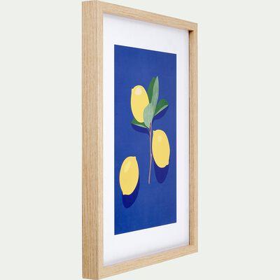 Image encadrée de citrons 30x40cm-LEMON