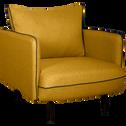 Fauteuil en tissu jaune nèfle-SAOU