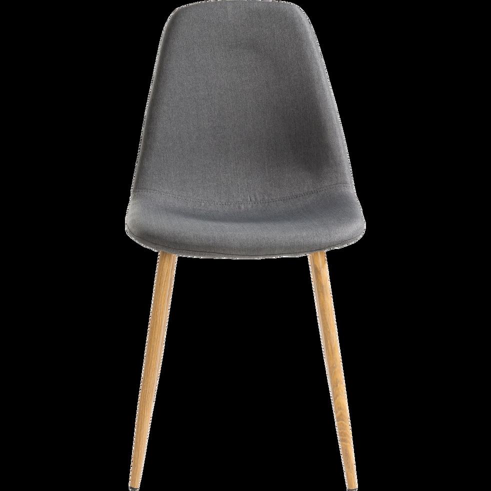 Chaise en tissu gris anthracite-LISON