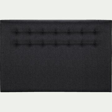 Tête de lit boutonnée 110X190cm gris anthracite-TIBOULEN