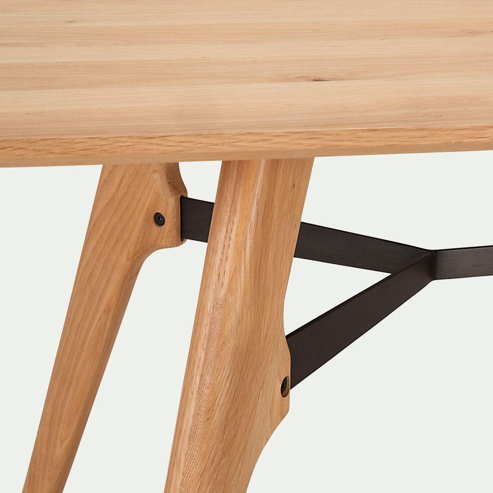 Table de repas rectangulaire bois et acier L180cm - 6 places-FANETTE