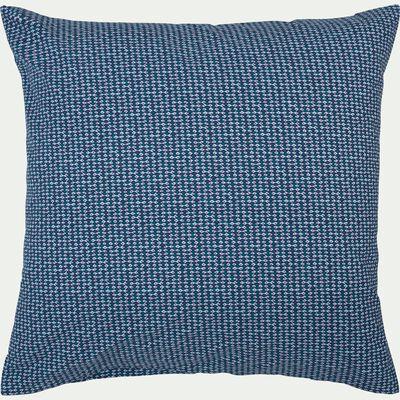 Lot de 2 taies oreiller 63x63cm bleu figuerolles-SEME