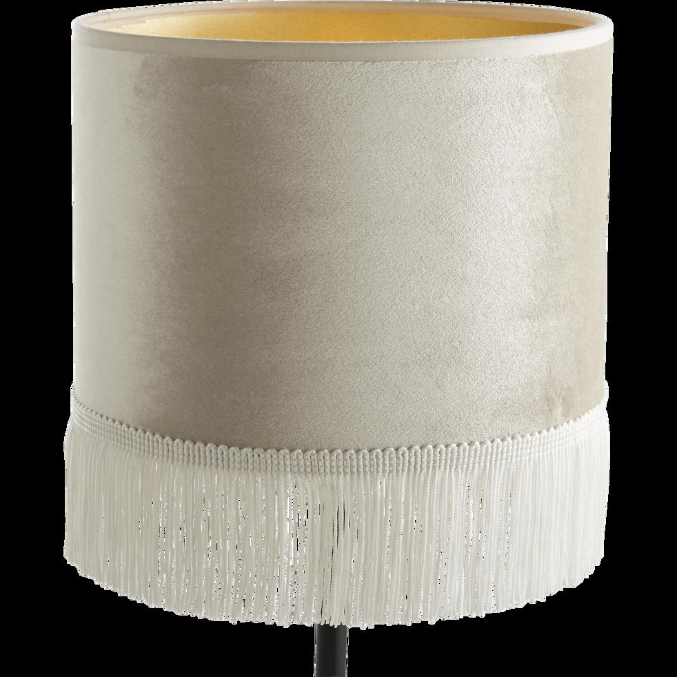 Abat-jour en velours beige D20cm-GRAND HOTEL