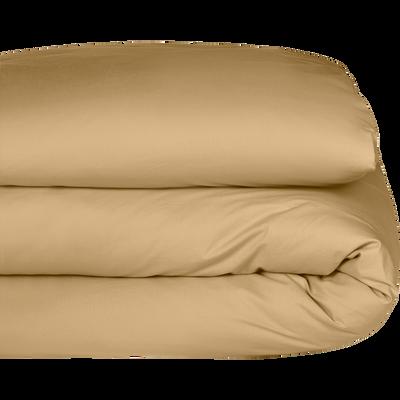 Housse de couette en percale de coton Beige nèfle 240x220cm-FLORE