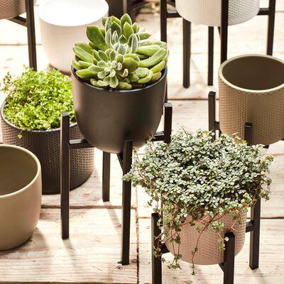 Pot vert kaki mat en céramique - H13xD13,5cm-TUSCA