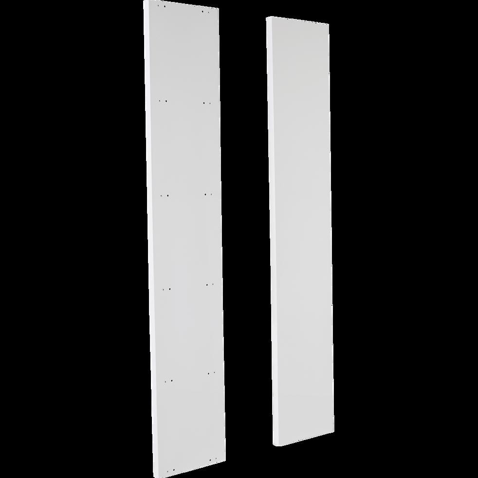 Lorena Lot De 2 Montants Extérieurs Blancs L206cm