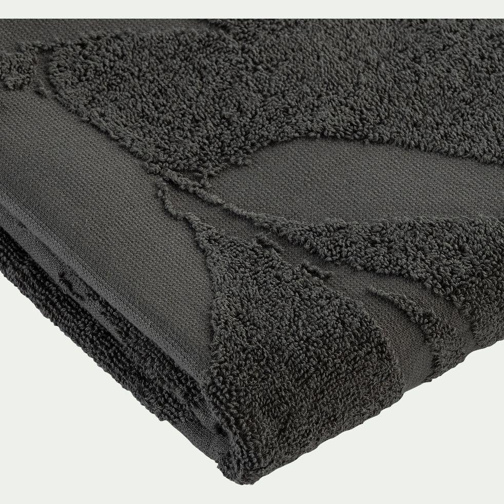 Lot de 2 serviettes invité en coton - vert cèdre 30x50cm-Ryad