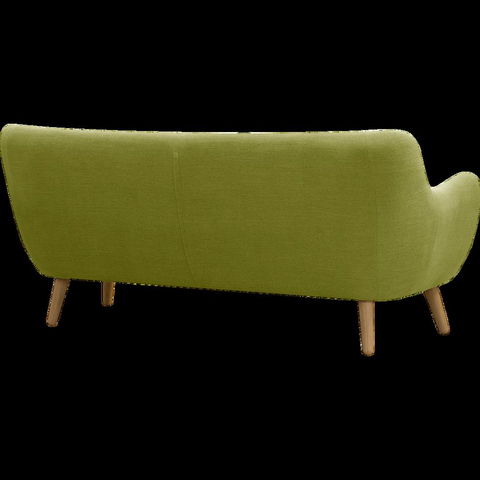 canap 3 places fixe vert olive poppy canap s droits en tissu alinea. Black Bedroom Furniture Sets. Home Design Ideas