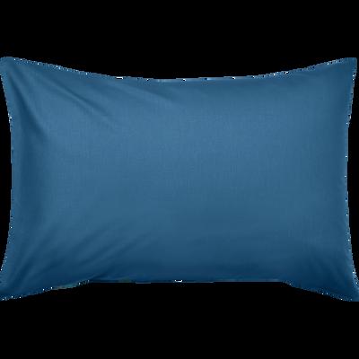 Taie d'oreiller en coton lavé bleu figuerolles 45x65 cm-CALANQUES