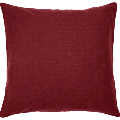 Coussin de sol en lin lavé rouge sumac 70x70cm-VENCE