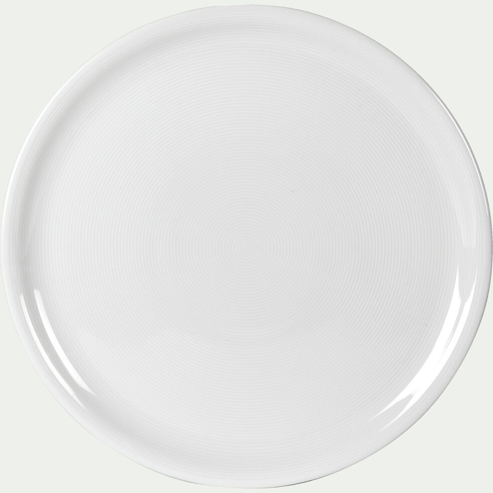 Assiette à pizza en porcelaine qualité hôtelière blanc D30,5cm-ETO